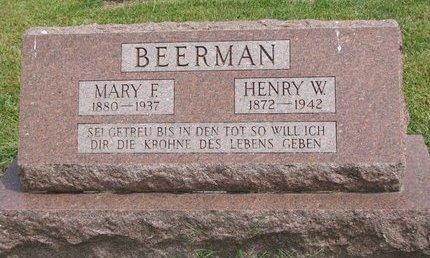 BEERMAN, MARY F. - Washington County, Nebraska | MARY F. BEERMAN - Nebraska Gravestone Photos