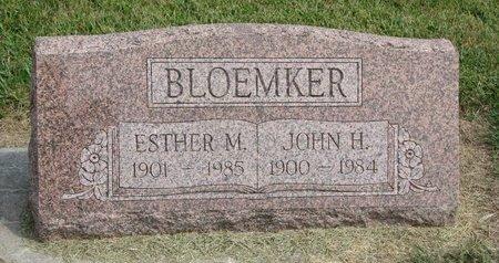 BLOEMKER, ESTHER M. - Washington County, Nebraska | ESTHER M. BLOEMKER - Nebraska Gravestone Photos