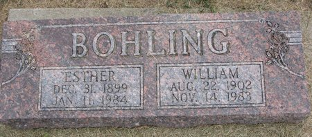 BOHLING, ESTHER - Washington County, Nebraska | ESTHER BOHLING - Nebraska Gravestone Photos