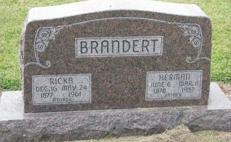 BRANDERT, HERMAN - Washington County, Nebraska | HERMAN BRANDERT - Nebraska Gravestone Photos