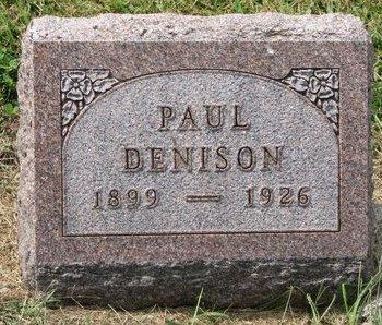 DENISON, PAUL - Washington County, Nebraska | PAUL DENISON - Nebraska Gravestone Photos