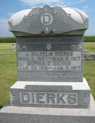 DIERKS, J. WILHELM - Washington County, Nebraska | J. WILHELM DIERKS - Nebraska Gravestone Photos