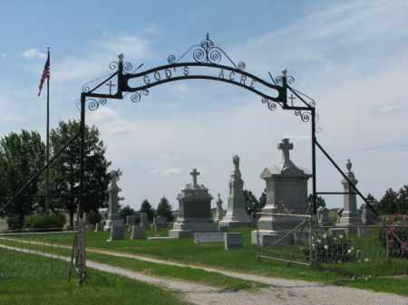 *GOD'S ACRE (ST. PAULS), ENTRANCE, GPS - Washington County, Nebraska   ENTRANCE, GPS *GOD'S ACRE (ST. PAULS) - Nebraska Gravestone Photos