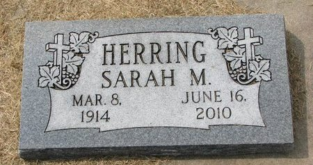 HERRING, SARAH M. - Washington County, Nebraska | SARAH M. HERRING - Nebraska Gravestone Photos
