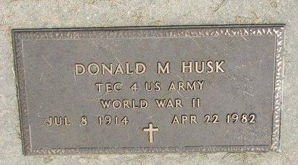 HUSK, DONALD M. (MILITARY) - Washington County, Nebraska   DONALD M. (MILITARY) HUSK - Nebraska Gravestone Photos