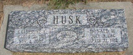 HUSK, DONALD M. - Washington County, Nebraska | DONALD M. HUSK - Nebraska Gravestone Photos