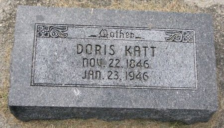 KATT, DORIS - Washington County, Nebraska | DORIS KATT - Nebraska Gravestone Photos