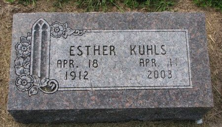 KUHLS, ESTHER - Washington County, Nebraska   ESTHER KUHLS - Nebraska Gravestone Photos
