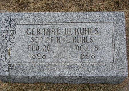 KUHLS, GERHARD W. - Washington County, Nebraska   GERHARD W. KUHLS - Nebraska Gravestone Photos
