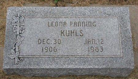 KUHLS, LEONA - Washington County, Nebraska | LEONA KUHLS - Nebraska Gravestone Photos