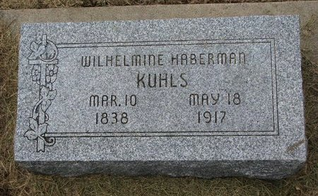 HABERMAN KUHLS, WILHELMINE - Washington County, Nebraska | WILHELMINE HABERMAN KUHLS - Nebraska Gravestone Photos