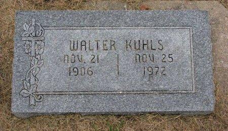 KUHLS, WALTER - Washington County, Nebraska   WALTER KUHLS - Nebraska Gravestone Photos