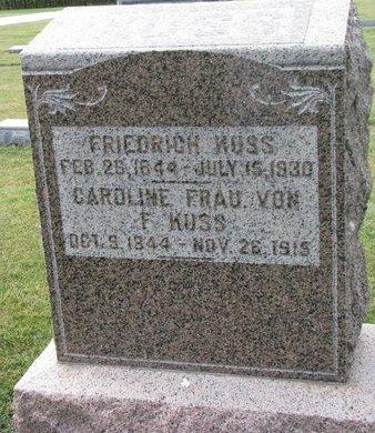 KUSS, FRIEDRICH - Washington County, Nebraska | FRIEDRICH KUSS - Nebraska Gravestone Photos