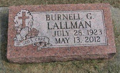 LALLMAN, BURNELL G. - Washington County, Nebraska | BURNELL G. LALLMAN - Nebraska Gravestone Photos