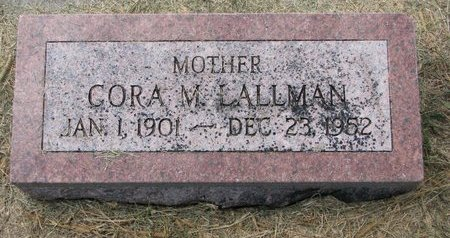 LALLMAN, CORA M. - Washington County, Nebraska | CORA M. LALLMAN - Nebraska Gravestone Photos