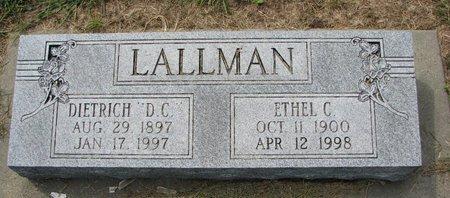 LALLMAN, ETHEL C. - Washington County, Nebraska   ETHEL C. LALLMAN - Nebraska Gravestone Photos