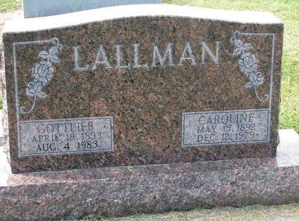 LALLMAN, CAROLINE - Washington County, Nebraska | CAROLINE LALLMAN - Nebraska Gravestone Photos