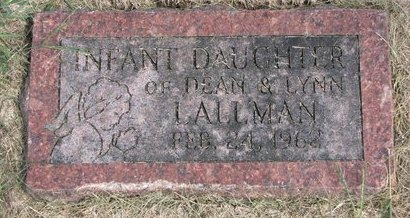 LALLMAN, INFANT DAUGHTER - Washington County, Nebraska | INFANT DAUGHTER LALLMAN - Nebraska Gravestone Photos