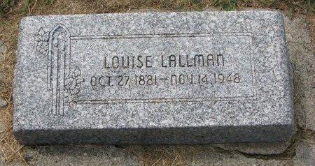LALLMAN, LOUISE - Washington County, Nebraska | LOUISE LALLMAN - Nebraska Gravestone Photos
