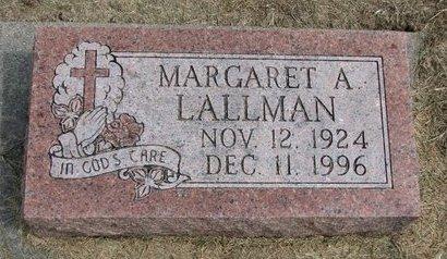 LALLMAN, MARGARET A. - Washington County, Nebraska | MARGARET A. LALLMAN - Nebraska Gravestone Photos