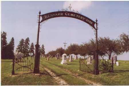 *KENNARD CEMETERY, ENTRANCE TO - Washington County, Nebraska   ENTRANCE TO *KENNARD CEMETERY - Nebraska Gravestone Photos