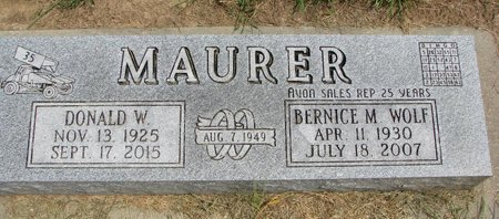 MAURER, DONALD W. - Washington County, Nebraska | DONALD W. MAURER - Nebraska Gravestone Photos
