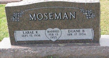 MOSEMAN, DUANE B. - Washington County, Nebraska | DUANE B. MOSEMAN - Nebraska Gravestone Photos