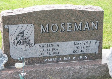 MOSEMAN, MARLYN A. - Washington County, Nebraska | MARLYN A. MOSEMAN - Nebraska Gravestone Photos