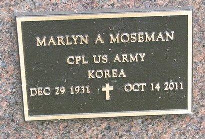 MOSEMAN, MARLYN A. (MILITARY) - Washington County, Nebraska | MARLYN A. (MILITARY) MOSEMAN - Nebraska Gravestone Photos