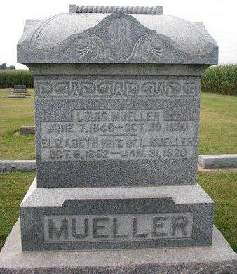MOSEL MUELLER, ELIZABETH - Washington County, Nebraska | ELIZABETH MOSEL MUELLER - Nebraska Gravestone Photos