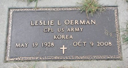 OERMAN, LESLIE L. - Washington County, Nebraska | LESLIE L. OERMAN - Nebraska Gravestone Photos