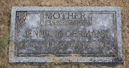STORK OERMANN, JENNIE M. - Washington County, Nebraska | JENNIE M. STORK OERMANN - Nebraska Gravestone Photos