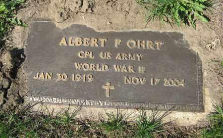 OHRT, ALBERT F. (MILITARY MARKER) - Washington County, Nebraska | ALBERT F. (MILITARY MARKER) OHRT - Nebraska Gravestone Photos