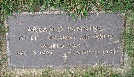 PANNING, ARLAN D. (MILITARY) - Washington County, Nebraska   ARLAN D. (MILITARY) PANNING - Nebraska Gravestone Photos
