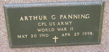 PANNING, ARTHUR G. (MILITARY) - Washington County, Nebraska | ARTHUR G. (MILITARY) PANNING - Nebraska Gravestone Photos