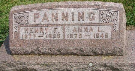 PANNING, HENRY F. - Washington County, Nebraska | HENRY F. PANNING - Nebraska Gravestone Photos