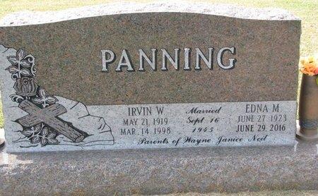 PANNING, IRVIN W. - Washington County, Nebraska | IRVIN W. PANNING - Nebraska Gravestone Photos