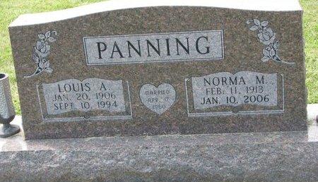 PANNING, LOUIS A. - Washington County, Nebraska | LOUIS A. PANNING - Nebraska Gravestone Photos