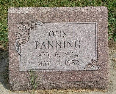PANNING, OTIS - Washington County, Nebraska | OTIS PANNING - Nebraska Gravestone Photos