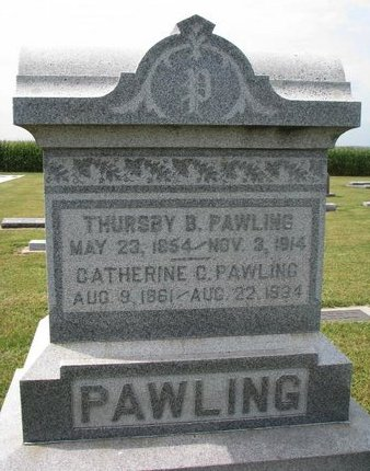 PAWLING, THURSBY BUCHANAN - Washington County, Nebraska | THURSBY BUCHANAN PAWLING - Nebraska Gravestone Photos
