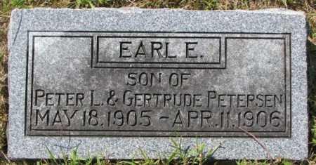 PETERSEN, EARL E. - Washington County, Nebraska | EARL E. PETERSEN - Nebraska Gravestone Photos
