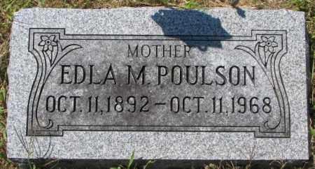 POULSON, EDLA M. - Washington County, Nebraska   EDLA M. POULSON - Nebraska Gravestone Photos