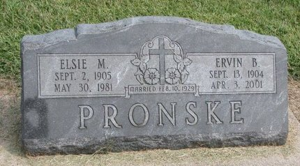 PRONSKE, ERVIN B. - Washington County, Nebraska | ERVIN B. PRONSKE - Nebraska Gravestone Photos