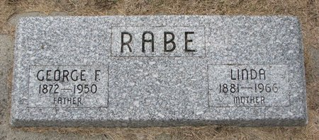 RABE, GEORGE F. - Washington County, Nebraska | GEORGE F. RABE - Nebraska Gravestone Photos