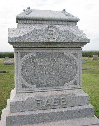 HABERMAN RABE, MARIA DORA LOUISA - Washington County, Nebraska | MARIA DORA LOUISA HABERMAN RABE - Nebraska Gravestone Photos