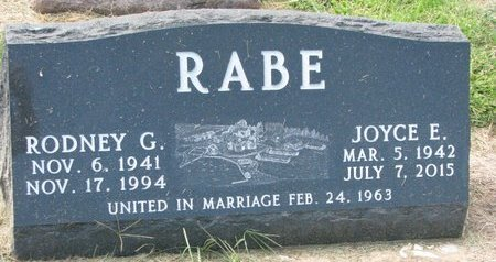 RABE, JOYCE E. - Washington County, Nebraska | JOYCE E. RABE - Nebraska Gravestone Photos