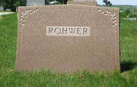 ROHWER, (FAMILY MONUMENT) - Washington County, Nebraska | (FAMILY MONUMENT) ROHWER - Nebraska Gravestone Photos