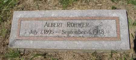 ROHWER, ALBERT - Washington County, Nebraska | ALBERT ROHWER - Nebraska Gravestone Photos