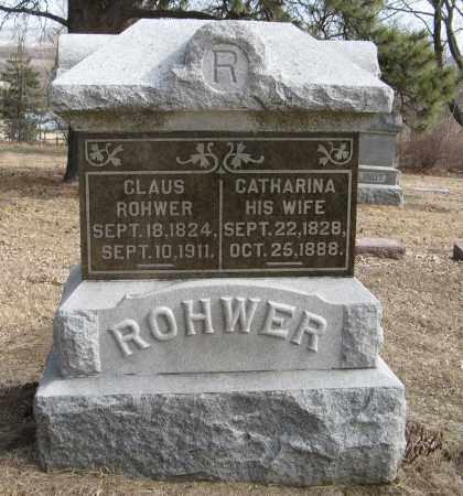 ROHWER, CATHARINA - Washington County, Nebraska | CATHARINA ROHWER - Nebraska Gravestone Photos