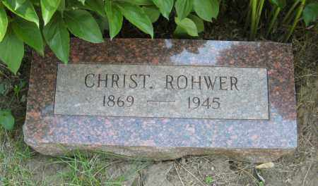 ROHWER, CHRIST. - Washington County, Nebraska | CHRIST. ROHWER - Nebraska Gravestone Photos